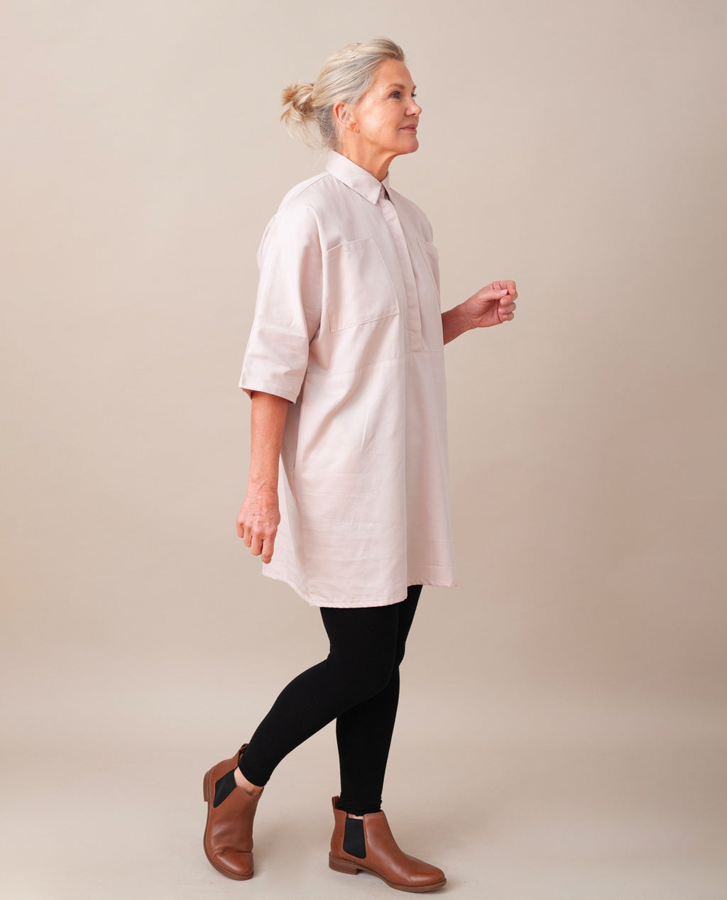 TILLIE-ANN Organic Cotton Tunic In Light Rose