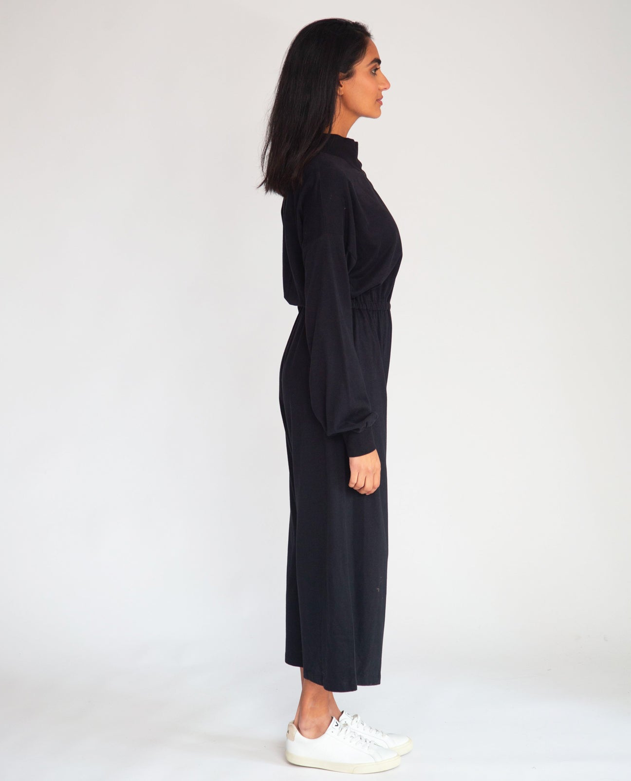 Tinley Organic Cotton Jumpsuit In Black