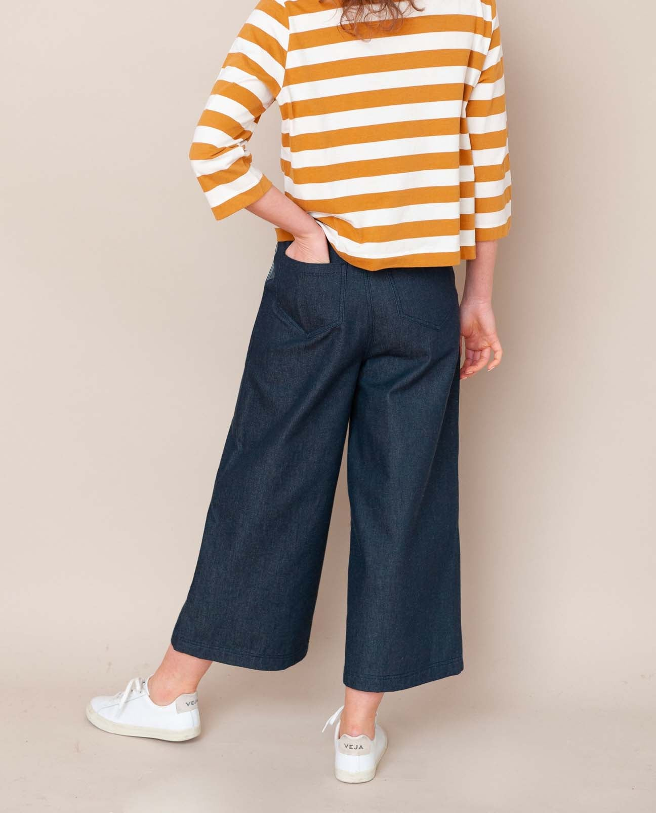 Tracey-Dee Organic Cotton Trouser In Denim