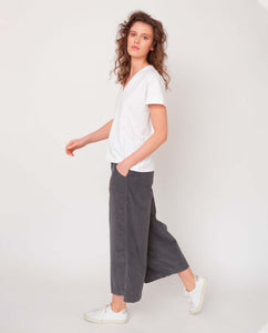 Tracey Organic Cotton Trouser In Slate