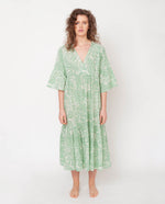 Tulsi Organic Cotton Dress In Green Print