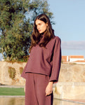 Ula Organic Cotton Top In Plum