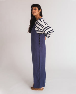 Unity-Jane Linen Jumpsuit In Navy