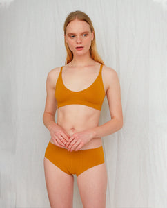 VINETA Organic Cotton Briefs In Ocre