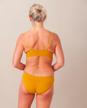Vineta Organic Cotton Knicker In Ocre