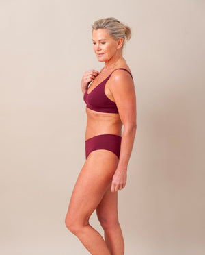 VINETA Organic Cotton Briefs In Burgundy