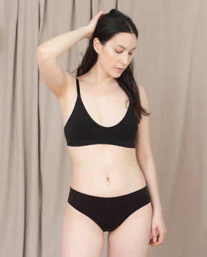 Vineta Organic Cotton Knicker In Black