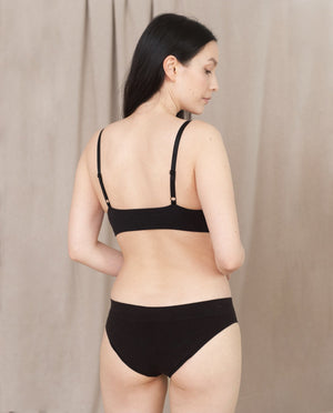 VINETA Organic Cotton Briefs In Black