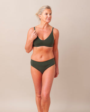 VINETA Organic Cotton Briefs In Khaki