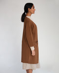 Whitney-Rose Virgin Wool Cardigan In Tan