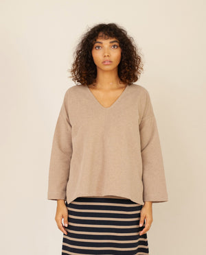 WILLA Organic Cotton Top In Stone Marl
