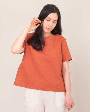 WINI Organic Cotton Top In Terracotta