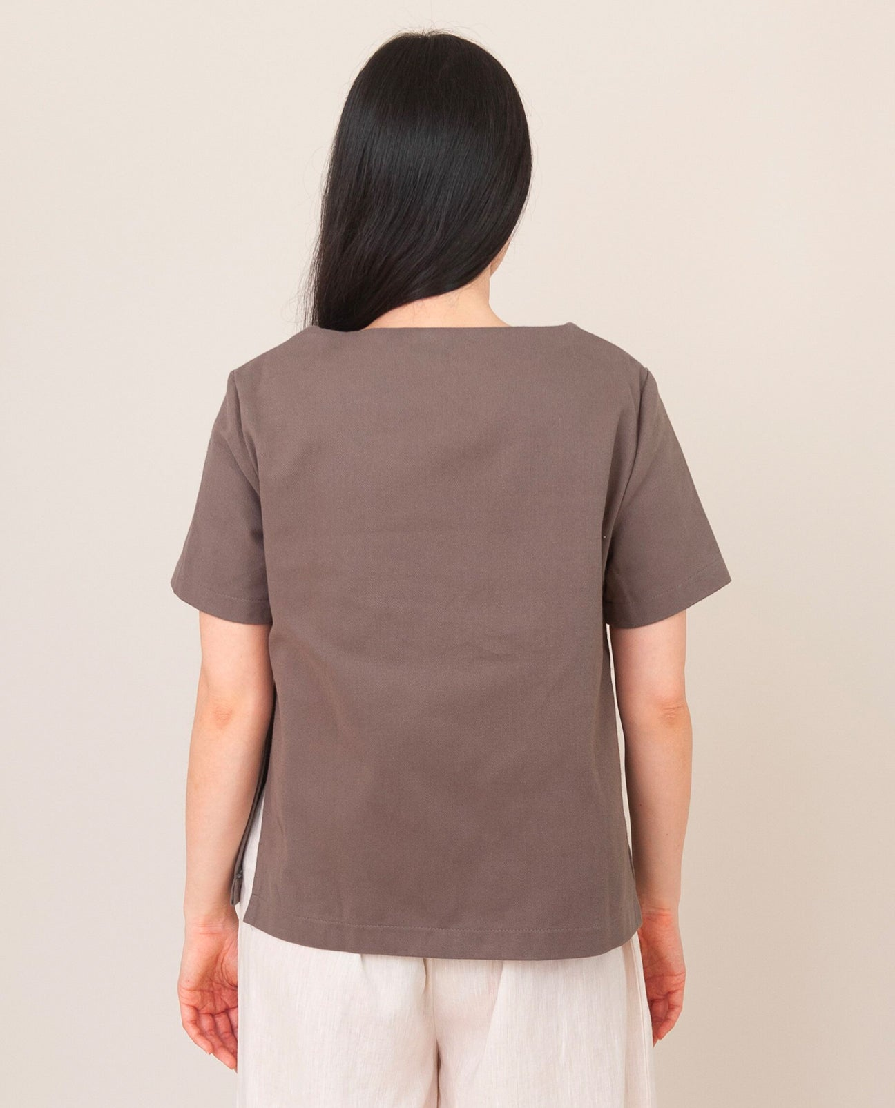 WINI-DEE  Cotton Top In Khaki