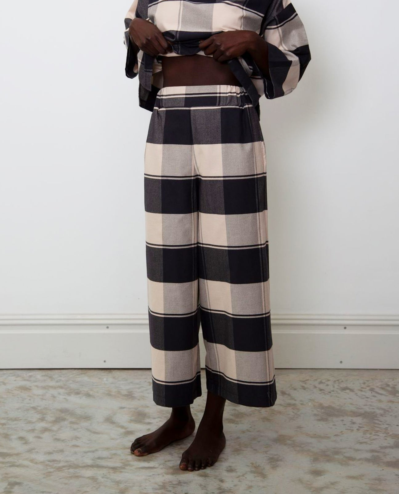 Winona-Cay Organic Cotton Trousers In Bold Check