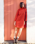 Xena Organic Cotton Dress In Rust