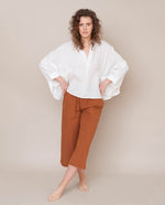 Ximena-May Organic Cotton & Linen Top In Off White