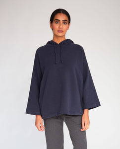 Yasmin Organic Cotton Hoodie In Navy