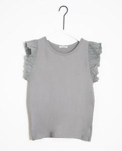 Zooey-May Organic Cotton & Linen Top In Dove
