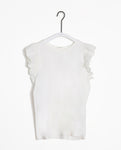 Zooey-May Organic Cotton & Linen Top In Off White