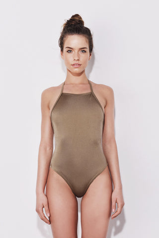 """Pemba"" swimsuit in Olive Green"