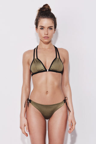 "Army Green with Leather detail bikini ""Nairobi"""