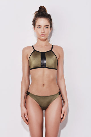 "The ""Sahara"" sports bikini set in army green"