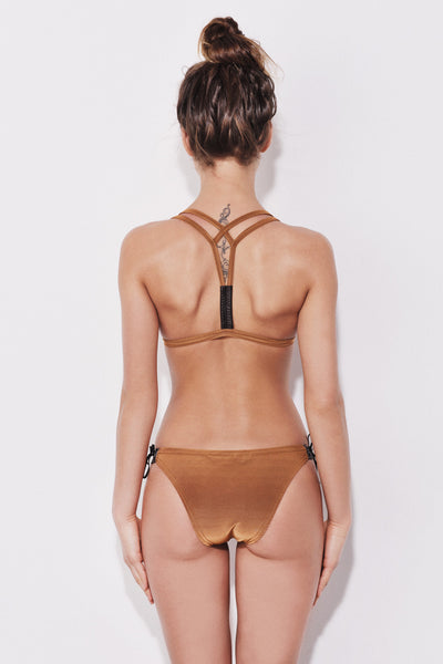 "Golden Sand + Leather detail bikini the ""Nairobi"""