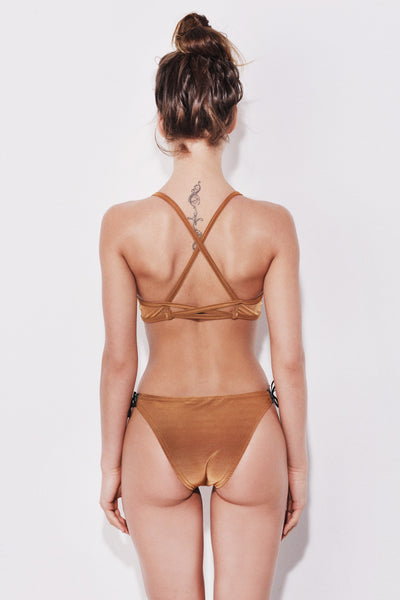"The ""Sahara"" sports bikini set in golden sand"