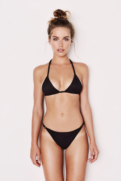"Ribbed Black Bikini - The ""Lamai"""