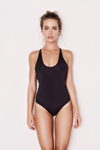 "Black One Piece Swimsuit - The ""Eden"""