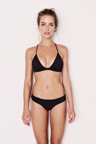 "The Black ""Yuan"" Bikini - Two Piece Adjustable Back Straps"