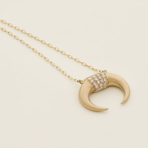 Kenya necklace - 18k gold with diamonds