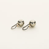 Pyrite earrings - silver and 18k gold with diamonds