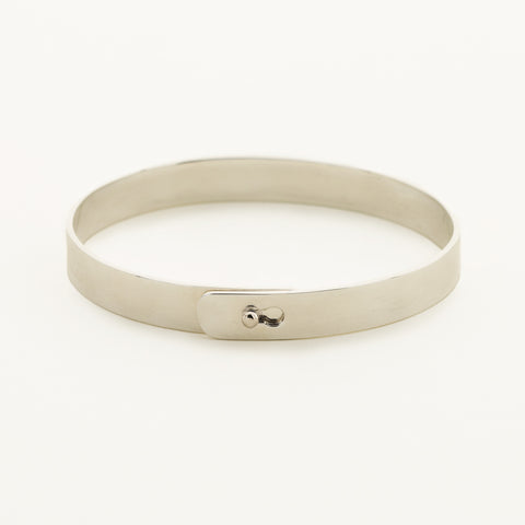Click bracelet with silver ball lock - silver