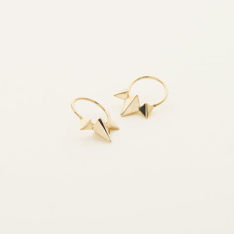 Stud earrings - gold plated