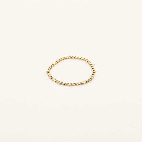 Thin chain ring - 18k gold