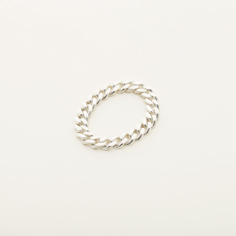 Medium chain ring - silver