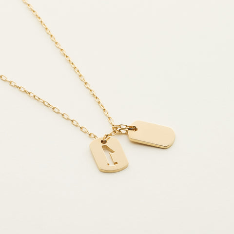 Tag 'number one' necklace - gold plated