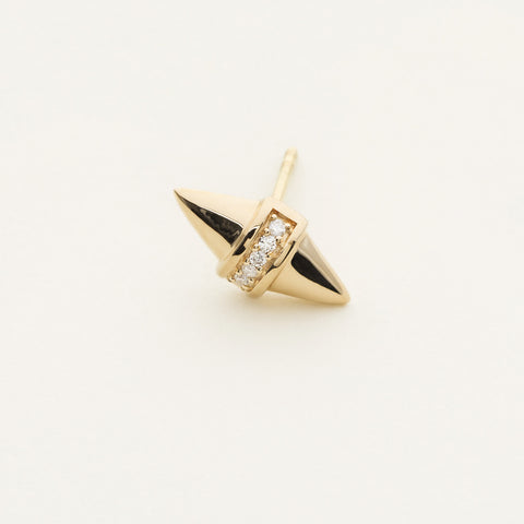 Diamond stud stik - 18k gold with diamonds