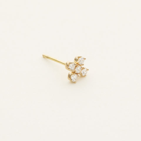 Plus earring - 18k gold with diamonds