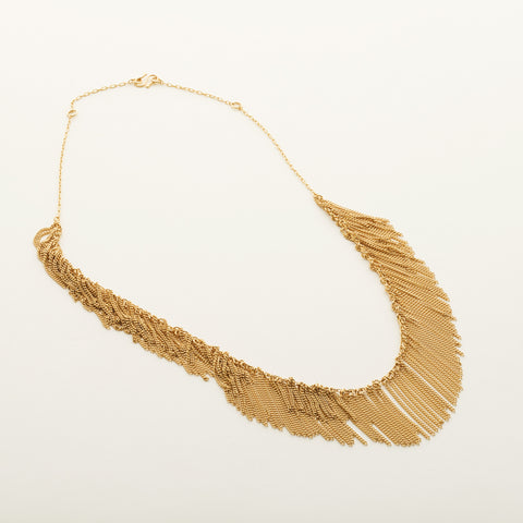 Fringe necklace - gold plated