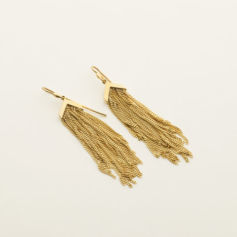 Fringe earrings - gold plated
