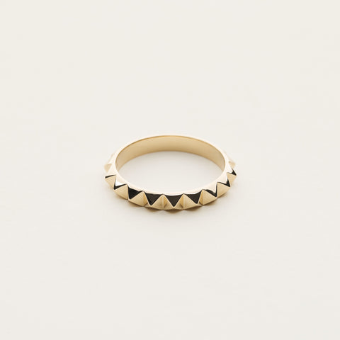 Mini stud ring - gold plated