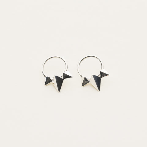 Stud earrings - silver