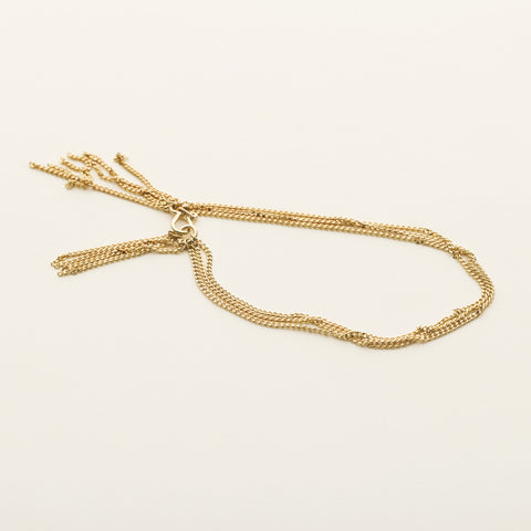 In chain bracelet - gold plated