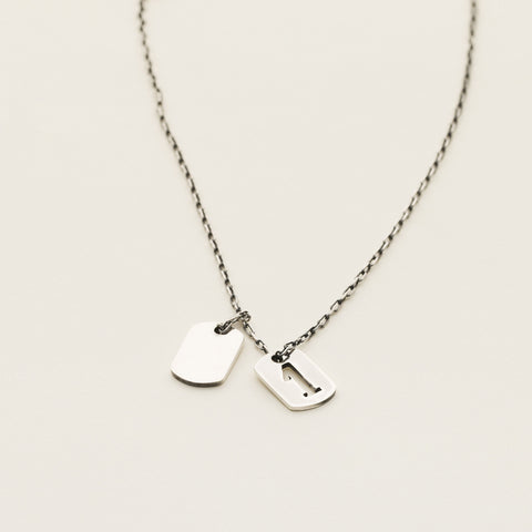 Tag 'number one' necklace - silver