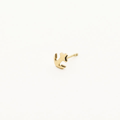 Anchor earring - 18k gold