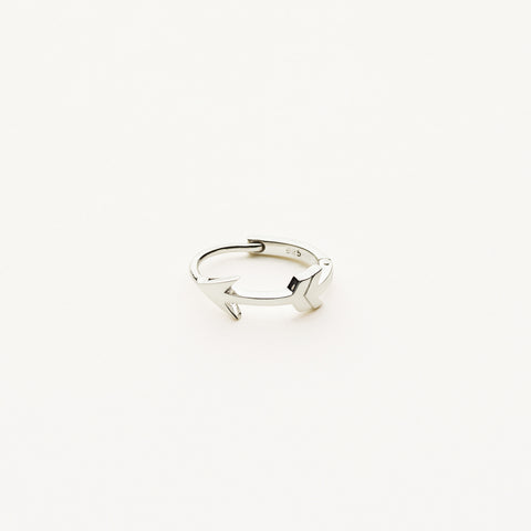 Arrow hoop earring - silver