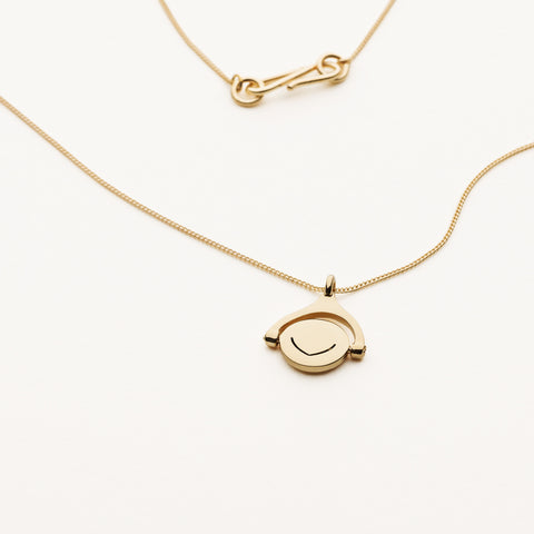 Mini spinning pendant necklace - gold plated