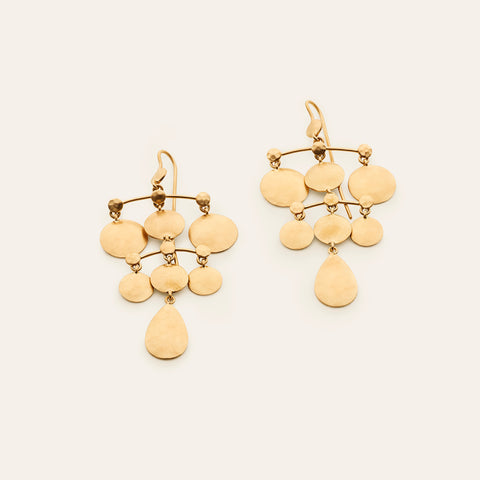 Disk earrings - gold plated